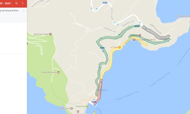 La mappa dei parcheggi di Porto Venere